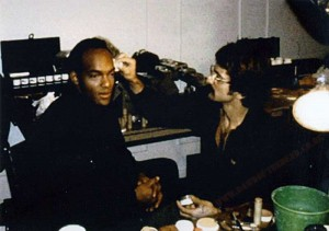 Behind the scenes photo Tom Savini Ken Foree