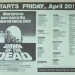 DAWN OF THE DEAD NYC OPENING HANDBILL NYC 4/20/1979