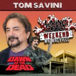 Tom Savini as Blade, the Biker Gang Leader Tom was the master mind behind the Special Effects in the Movie as well as a stunt man. George A. Romero's Dawn of the Dead. After the Living Dead take over the world, a group of survivors hold up in a giant shopping Mall in Monroevill, Pittsburgh PA Join us June 9th 10th and 11th in the Monroeville Mall for a Dawn of the Dead Reunion