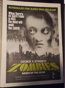 Zombies Dawn of the Dead UK trade press advert